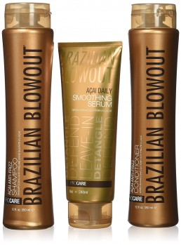 Three different brazilian blowout products used at hair salon 51 in hicksville ny